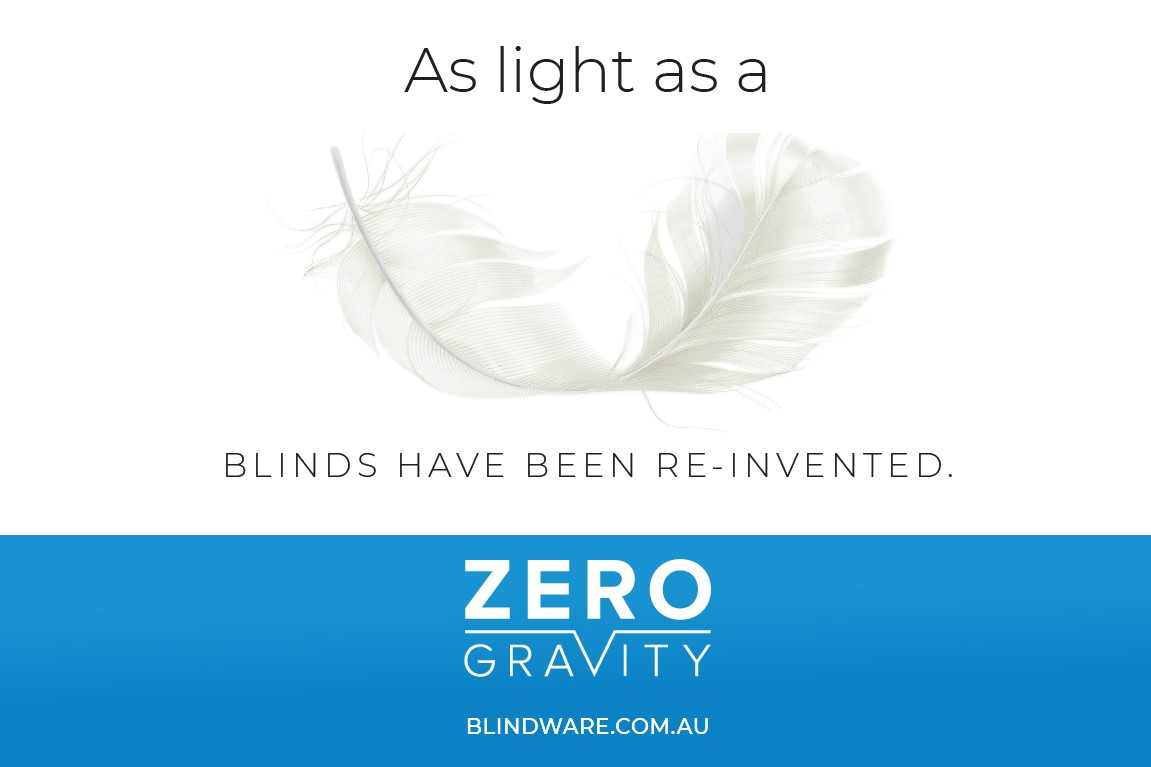 Feather Image Banner 2 1 - Zero Gravity – the Next Generation of Roller Blinds
