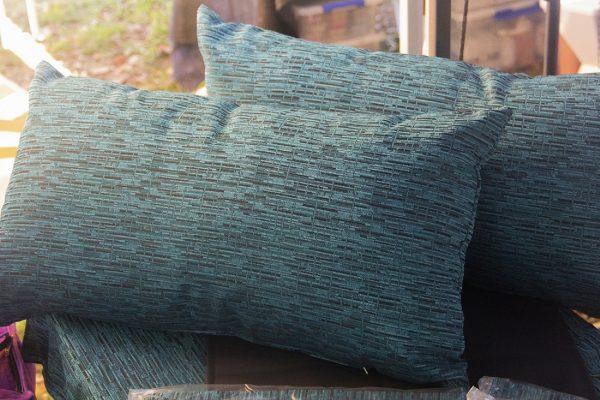Aqua queen cushions