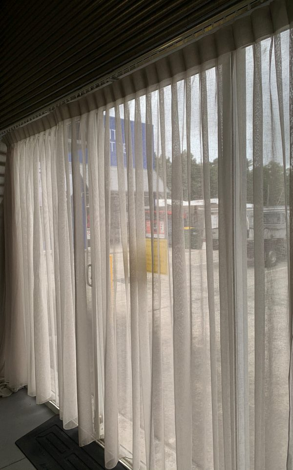 Bali Smoke 4800 x 2370 195 3 600x964 - Custom made Sheer Curtain to fit window size 4800mm wide in a soft grey colour