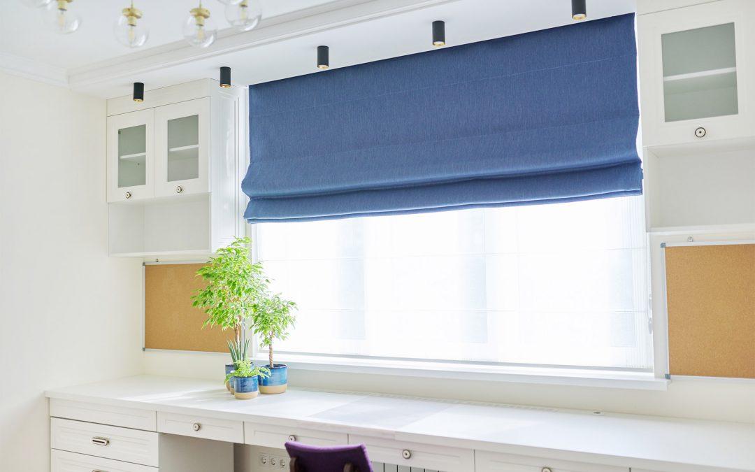 Roman blinds for windows